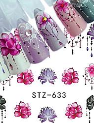 Недорогие -5 pcs Стикеры маникюр Маникюр педикюр Цветной Наклейки для ногтей На каждый день / фестиваль