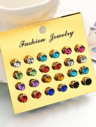 cheap -Women's Crystal Beaded Stud Earrings / Earrings Set - Ball Romantic, Fashion, Elegant Rainbow For Party / Evening / Birthday