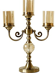 cheap -European Style Glasses / Iron Candle Holders Candlestick 1pc, Candle / Candle Holder