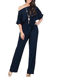 お買い得  -女性用 ベーシック / ストリートファッション ジャンプスーツ ソリッド