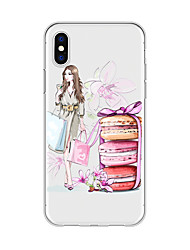 cheap -Case For Apple iPhone X / iPhone 8 Plus Pattern Back Cover Sexy Lady / Cartoon / Flower Soft TPU for iPhone X / iPhone 8 Plus / iPhone 8