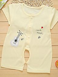 お買い得  -5個 赤ちゃん 女の子 犬 ソリッド / プリント 半袖 ワンピース