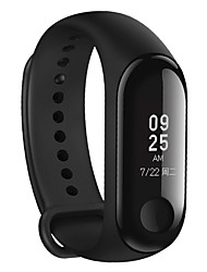 economico -cardiofrequenzimetro originale xiaomi mi banda 3 fitness tracker da 0,78 '' oled display touchpad bluetooth 4.2 android ios