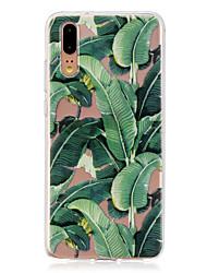 Недорогие -Кейс для Назначение Huawei P20 / P20 lite Полупрозрачный Кейс на заднюю панель Растения Мягкий ТПУ для Huawei P20 / Huawei P20 Pro / Huawei P20 lite