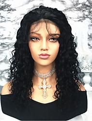 cheap -Remy Human Hair Lace Front Wig Brazilian Hair Curly Wig 150% Women's Long Human Hair Lace Wig