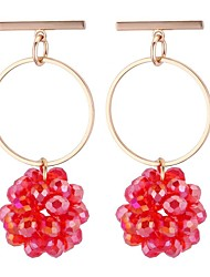 cheap -Women's Drop Earrings - Stylish Red / Blue / Golden For Going out / Birthday