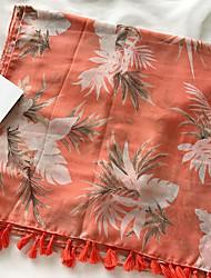 abordables -Unisex Borla, Algodón Rectángulo Un Color / Floral Hoja tropical / Primavera / Otoño
