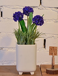abordables -Flores Artificiales 1 Rama Sencilla Rústico Plantas Flor de Mesa