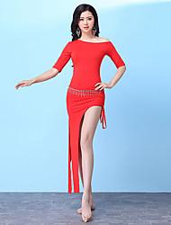 cheap -Belly Dance Dresses Women's Training Modal Split Half Sleeve High Dress