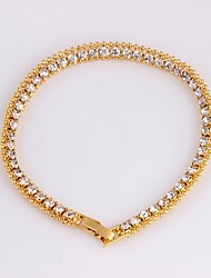 cheap -Women's Tennis Chain Bracelet - Dainty, Korean, Fashion Bracelet Gold For Party / Gift