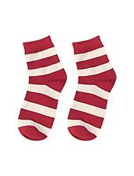Недорогие -1 пара Универсальные Носки Standard Stripes / Рябь Способствует хорошему настроению Простой стиль Хлопок EU36-EU42