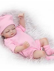 baratos -NPKCOLLECTION Bonecas Reborn Bebê / Bebês Meninas 12 polegada Silicone de corpo inteiro / Silicone - realista de Criança Para Meninas Dom