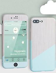 Недорогие -Кейс для Назначение Apple iPhone X / iPhone 8 С узором Чехол Мрамор Твердый ПК для iPhone X / iPhone 8 Pluss / iPhone 8