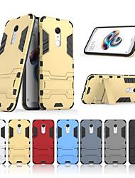 Недорогие -Кейс для Назначение Xiaomi Redmi 5 Plus со стендом Кейс на заднюю панель Однотонный Твердый ПК для Xiaomi Redmi 5 Plus