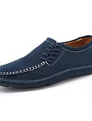 Недорогие -Муж. Мокасины Замша / Кожа Осень Удобная обувь Мокасины и Свитер Черный / Зеленый / Синий