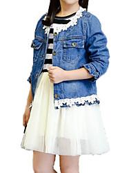 baratos -Infantil Para Meninas Listrado Manga Longa Conjunto