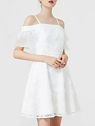 cheap -Women's Basic A Line Dress Embroidered