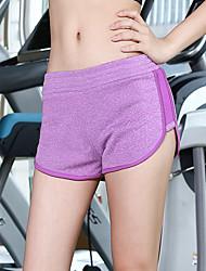 abordables -Mujer Básico Pantalones de Deporte Pantalones - Un Color Negro y gris