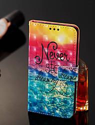 abordables -Funda Para Nokia Nokia 7 Plus / Nokia 6 2018 Cartera / Soporte de Coche / con Soporte Funda de Cuerpo Entero Paisaje Dura Cuero de PU para