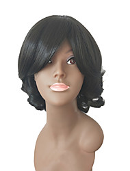 cheap -Synthetic Wig Curly Layered Haircut Synthetic Hair Party Black Wig Women's Long Capless