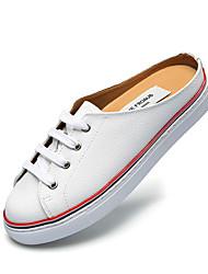 Недорогие -Жен. Обувь Кожа Наступила зима Удобная обувь Башмаки и босоножки На плоской подошве Белый