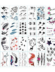 cheap -Sticker / Tattoo Sticker Arm Temporary Tattoos 30 pcs Totem Series / Animal Series / Flower Series Body Arts