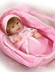 cheap -NPKCOLLECTION Reborn Doll Baby Boy / Baby Girl 12 inch Full Body Silicone / Vinyl - lifelike, Artificial Implantation Brown Eyes Kid's Unisex Gift