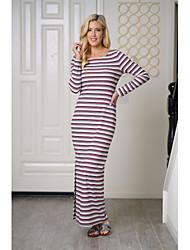 cheap -Women's Slim Sheath Dress High Waist Maxi / Spring / Fall