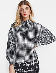 cheap -Women's Shirt - Check Crew Neck