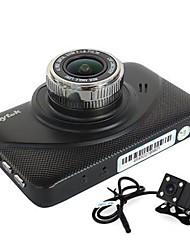 Недорогие -Anytek X18+ 1080p Ночное видение / Двойной объектив Автомобильный видеорегистратор 170° Широкий угол 2.4 дюймовый Капюшон с G-Sensor /