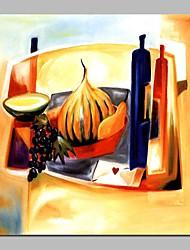 abordables -Pintura al óleo pintada a colgar Pintada a mano - Abstracto / Naturaleza muerta Modern Lona