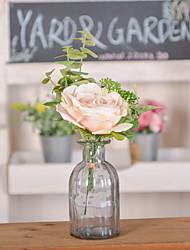 baratos -Flores artificiais 1 Ramo Solteiro (L150 cm x C200 cm) Estiloso Rosas Flor de Mesa