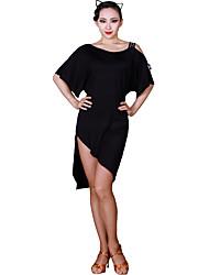 cheap -Latin Dance Dresses Women's Training Modal Sashes / Ribbons Half Sleeve Natural Dress