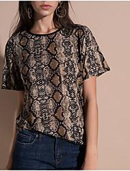 cheap -Women's Basic T-shirt - Leopard Print