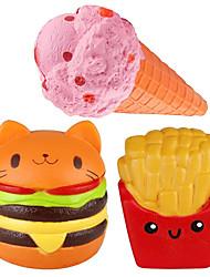 Недорогие -LT.Squishies Резиновые игрушки / Устройства для снятия стресса Продукты питания Стресс и тревога помощи / Декомпрессионные игрушки 3 pcs