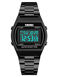 cheap -SKMEI Men's Sport Watch Japanese Alarm / Calendar / date / day / Chronograph Stainless Steel Band Casual / Fashion Black / Blue / Silver / Water Resistant / Water Proof / Stopwatch