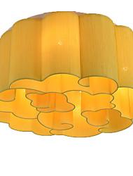 cheap -QIHengZhaoMing 6-Light Flush Mount Ambient Light - Crystal, 110-120V / 220-240V, Warm White, Bulb Included