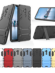 cheap -Case For LG G7 with Stand Back Cover Solid Colored Hard PC for LG G7