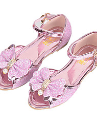 cheap -Girls' Shoes Sparkling Glitter Spring / Summer Comfort / Novelty / Flower Girl Shoes Sandals Rhinestone / Bowknot / Pearl for Purple / Pink / Peep Toe / Wedding