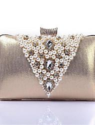 economico -Per donna Sacchetti Poliestere Pochette Dettagli con perline Champagne / Nero / Argento