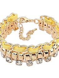 cheap -Women's Chain Bracelet - Fashion, Elegant Bracelet Yellow / Red / Blue For Ceremony / Date