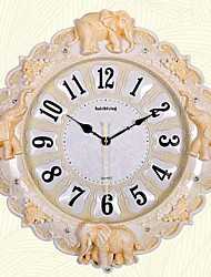 cheap -European Plastic Irregular Indoor,AA Batteries Powered Wall Clock