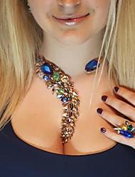 Недорогие -Жен. Кристалл несовместимый Ожерелья-бархатки / Заявление ожерелья / Y Ожерелье - Алфавит В виде подвески, Богемные, модный Синий, Розовый, Светло-синий 33 cm Ожерелье Бижутерия 1шт Назначение