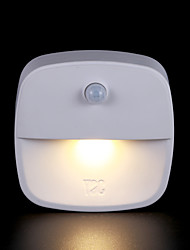 cheap -1pc LED Night Light AAA Batteries Powered Infrared Sensor / Human Body Sensor