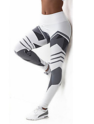cheap -Women's Sporty Legging - Color Block High Waist