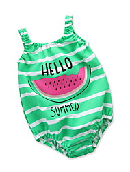 cheap -Kids Girls' Print / Fruit Sleeveless Swimwear