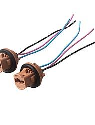 Недорогие -ziqiao 2 шт. h7 фара лампа розетка керамическая лампа базовый разъем для подключения автомобиля - цвет случайный