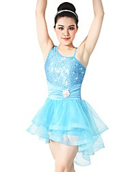 cheap -Ballet Dresses Women's Performance Elastic / Tulle / Sequined Crystals / Rhinestones / Paillette Sleeveless Natural Hair Jewelry / Dress