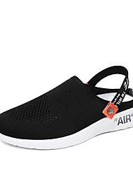 cheap -Men's Shoes Elastic Fabric Summer Comfort Clogs & Mules White / Black