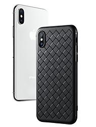 Недорогие -Кейс для Назначение Apple iPhone X / iPhone 8 Pluss / iPhone 8 Ультратонкий Кейс на заднюю панель Однотонный Мягкий ТПУ